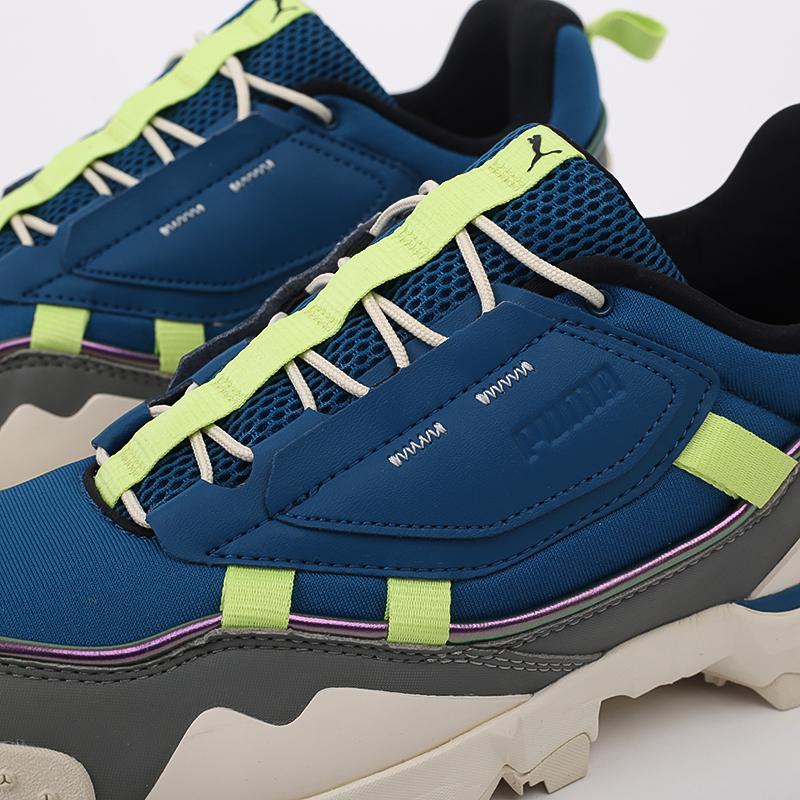 мужские синие  кроссовки puma trailfox overland mts ird 37340902 - цена, описание, фото 3