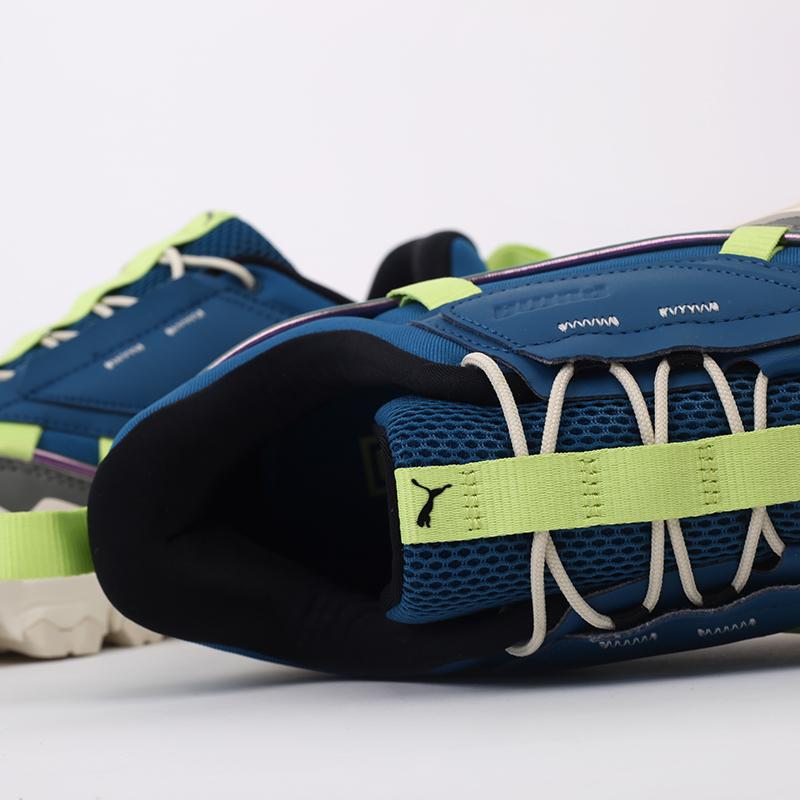 мужские синие  кроссовки puma trailfox overland mts ird 37340902 - цена, описание, фото 6