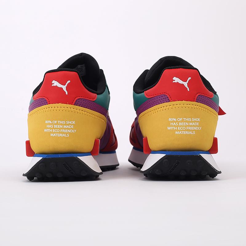 мужские разноцветные  кроссовки puma future rider hf x the hundreds 37372601 - цена, описание, фото 5