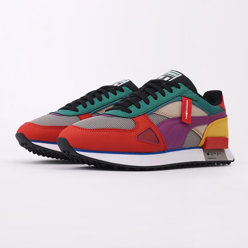 мужские разноцветные  кроссовки puma future rider hf x the hundreds 37372601 - цена, описание, фото 2