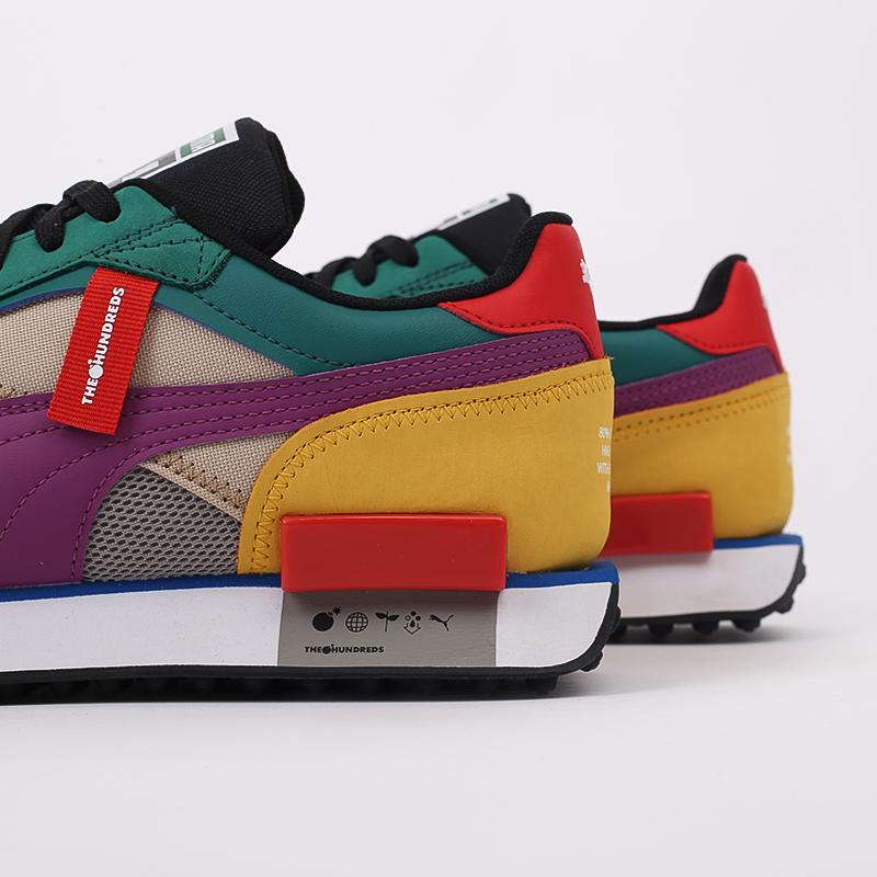 мужские разноцветные  кроссовки puma future rider hf x the hundreds 37372601 - цена, описание, фото 4