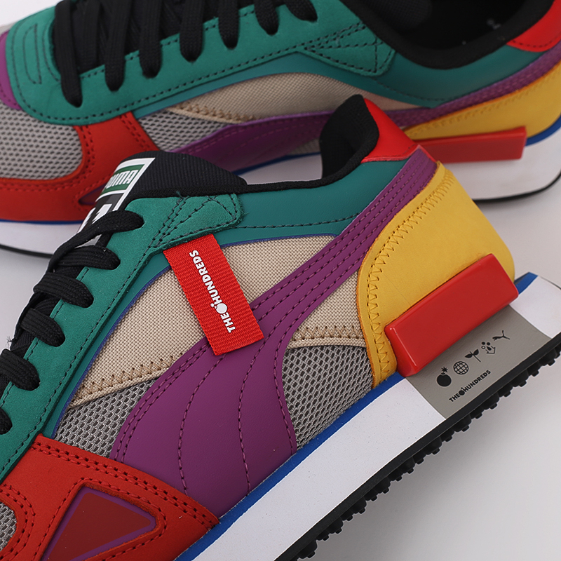 мужские разноцветные  кроссовки puma future rider hf x the hundreds 37372601 - цена, описание, фото 7