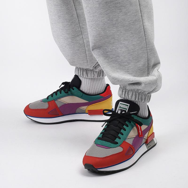 мужские разноцветные  кроссовки puma future rider hf x the hundreds 37372601 - цена, описание, фото 9
