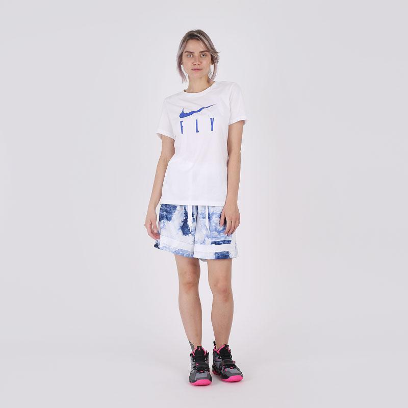 женскую белую  футболка nike fly CW6701-100 - цена, описание, фото 4