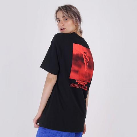 женскую чёрную  футболка nike fly CV0950-010 - цена, описание, фото 2
