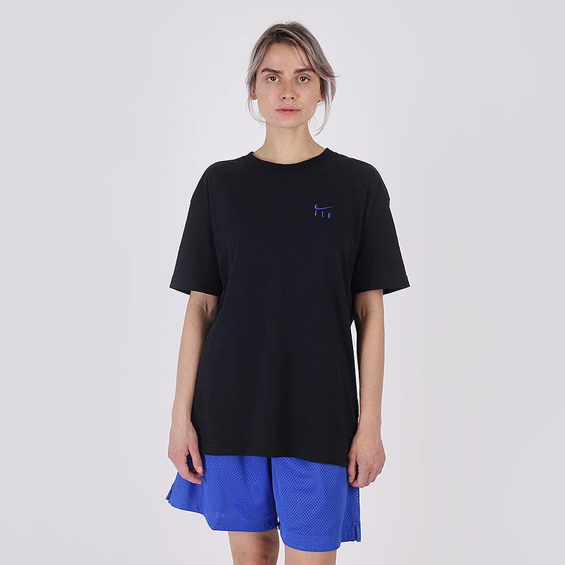 женскую чёрную  футболка nike fly CV0950-010 - цена, описание, фото 1