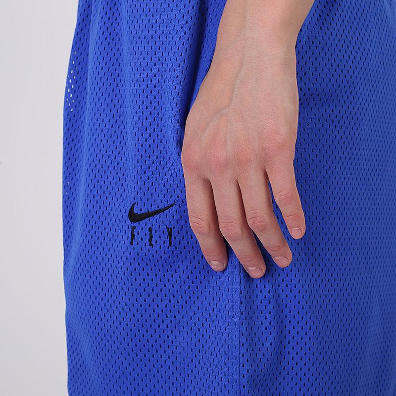 женские синие  шорты nike fly CU4573-405 - цена, описание, фото 5