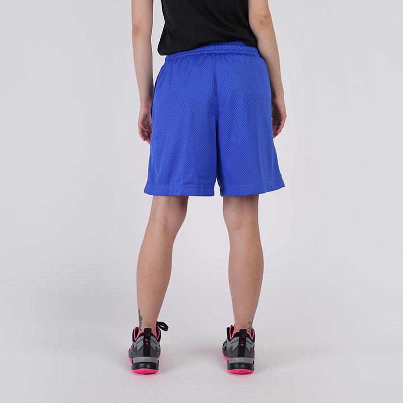 женские синие  шорты nike fly CU4573-405 - цена, описание, фото 2