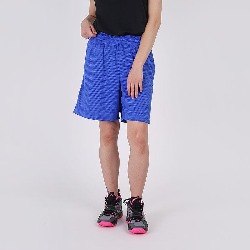 женские синие  шорты nike fly CU4573-405 - цена, описание, фото 1