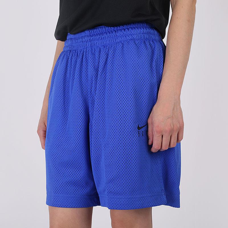 женские синие  шорты nike fly CU4573-405 - цена, описание, фото 3