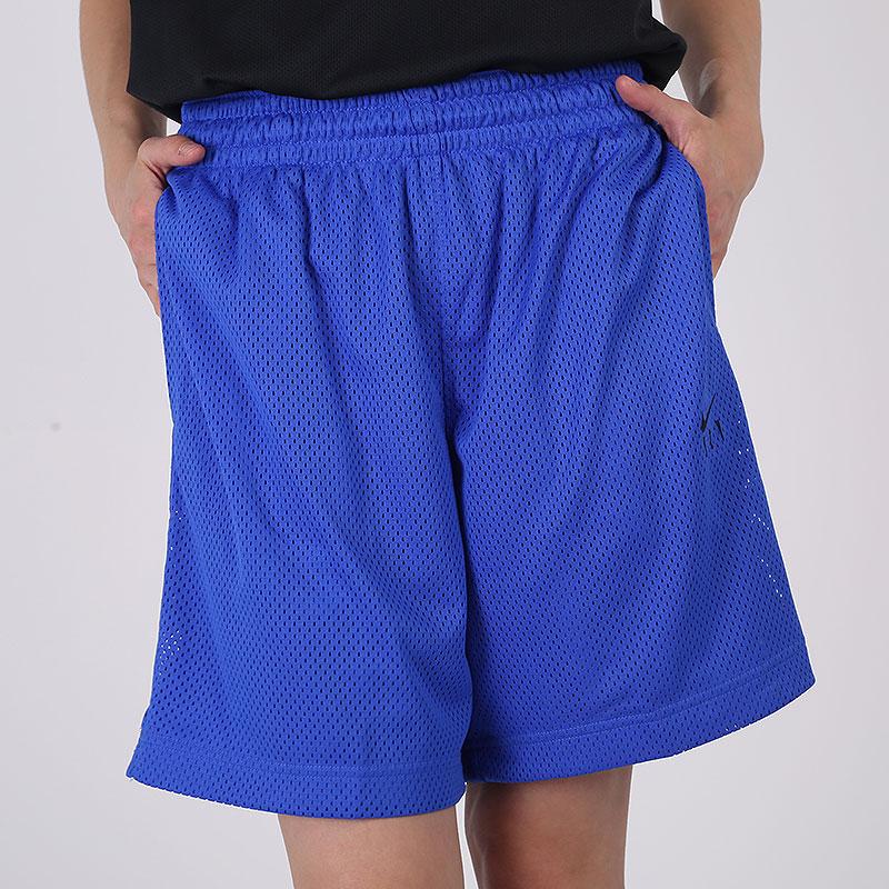женские синие  шорты nike fly CU4573-405 - цена, описание, фото 4