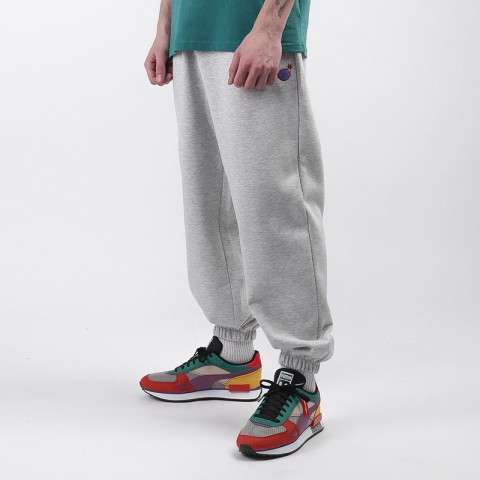 мужские серые  брюки puma x the hundreds 59831604 - цена, описание, фото 1