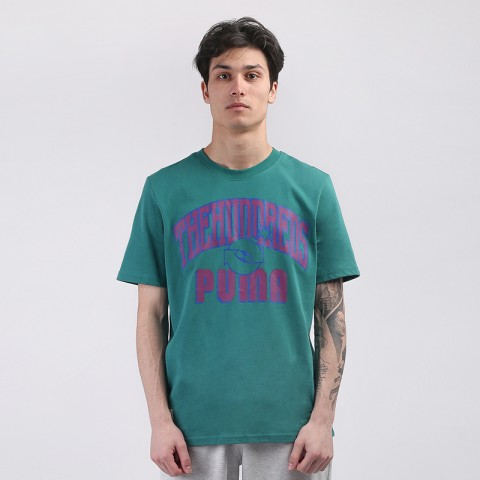 мужскую зелёную  футболка puma x the hundreds 59831490 - цена, описание, фото 1