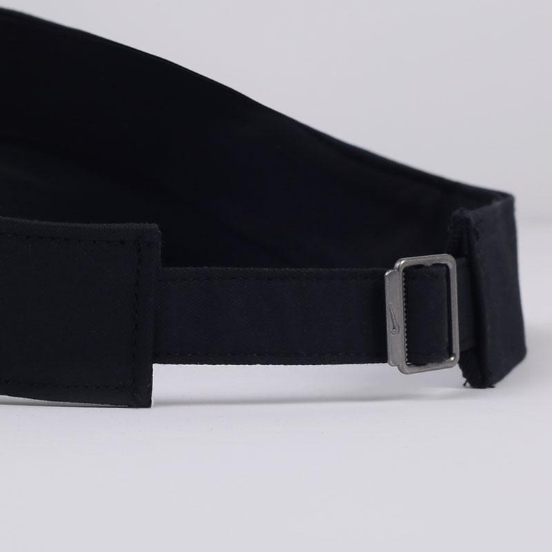 черную  кепка nike heritage tennis visor AQ8297-010 - цена, описание, фото 2