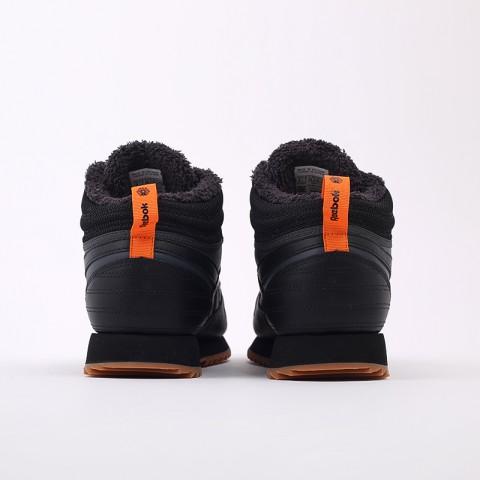 мужские чёрные  кроссовки reebok cl lthr mid ripple FV9309 - цена, описание, фото 3