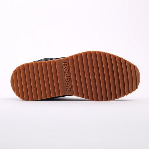 мужские чёрные  кроссовки reebok cl lthr mid ripple FV9309 - цена, описание, фото 4