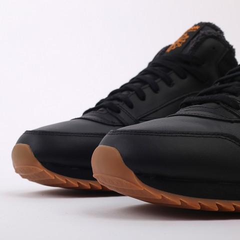 мужские чёрные  кроссовки reebok cl lthr mid ripple FV9309 - цена, описание, фото 6