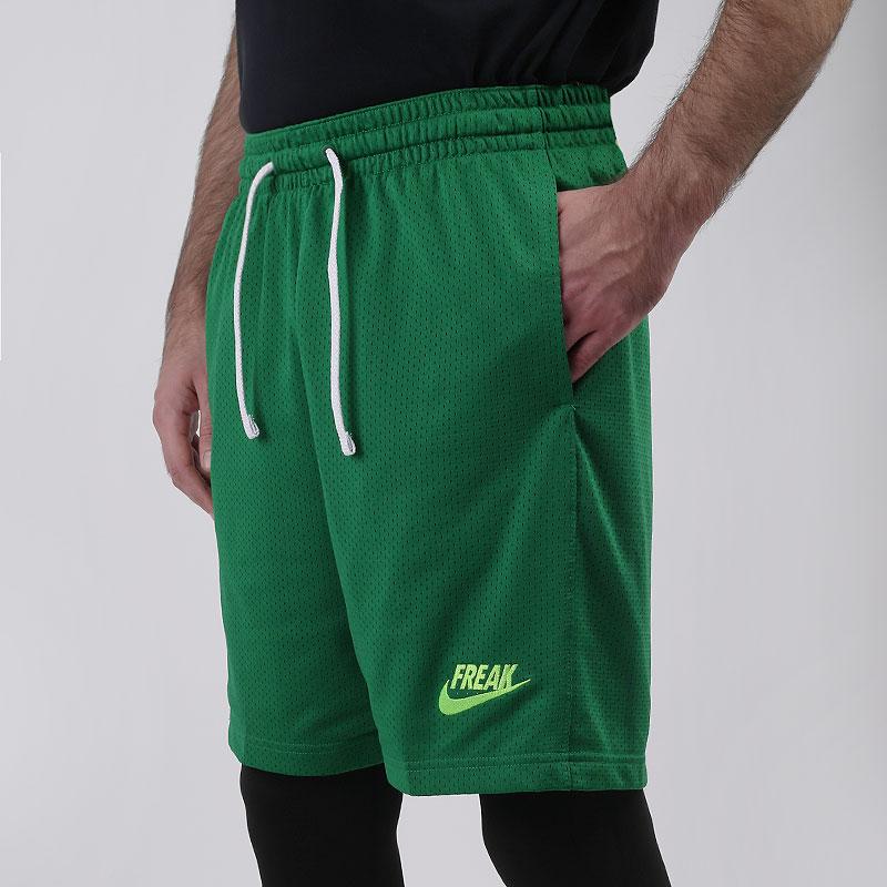 мужские зеленые  шорты  nike giannis basketball shorts CK6212-302 - цена, описание, фото 1