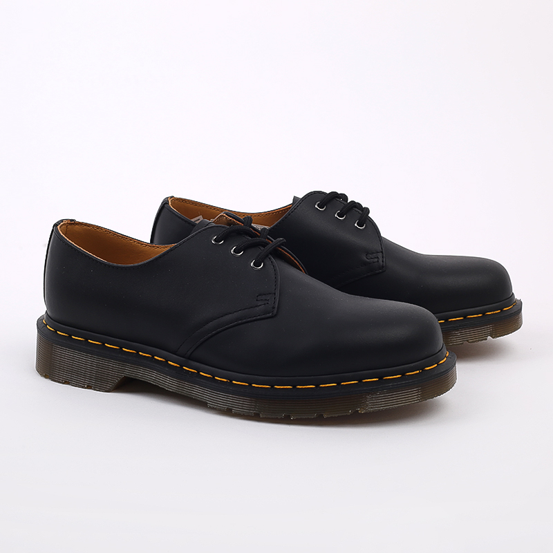 мужские чёрные  ботинки dr. martens 1461 11838001 - цена, описание, фото 2