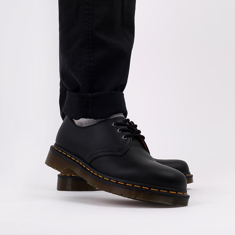 мужские чёрные  ботинки dr. martens 1461 11838001 - цена, описание, фото 8