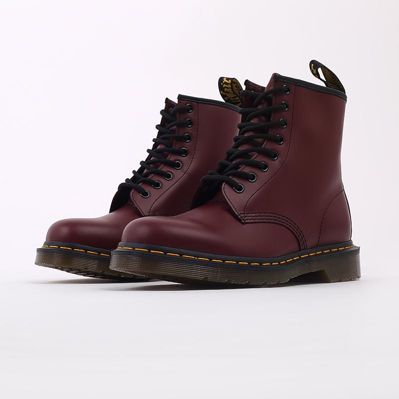 мужские бордовые  ботинки dr. martens 1460 11822600 - цена, описание, фото 4