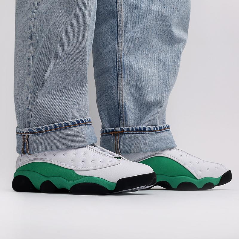 мужские белые, зелёные  кроссовки jordan 13 retro DB6537-113 - цена, описание, фото 10
