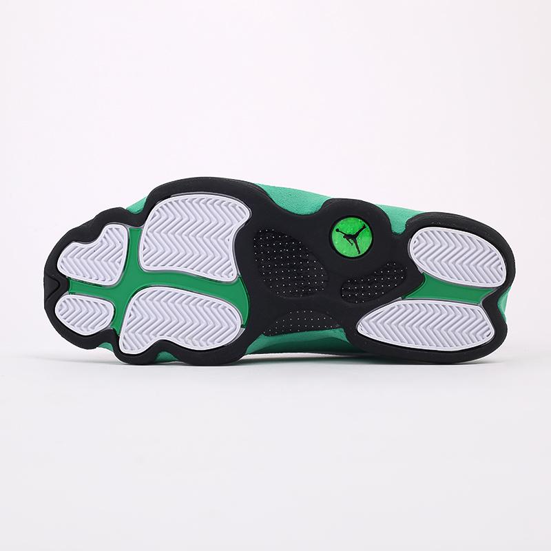 мужские белые, зелёные  кроссовки jordan 13 retro DB6537-113 - цена, описание, фото 8