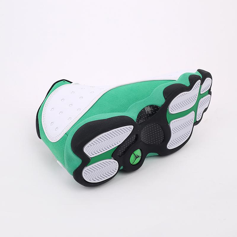 мужские белые, зелёные  кроссовки jordan 13 retro DB6537-113 - цена, описание, фото 7
