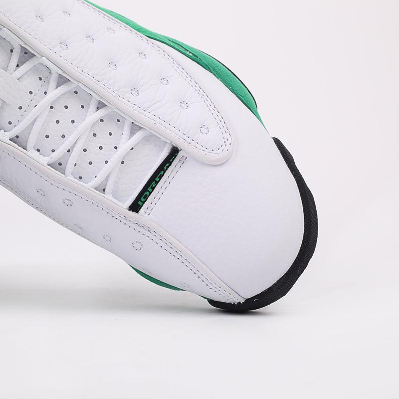 мужские белые, зелёные  кроссовки jordan 13 retro DB6537-113 - цена, описание, фото 9