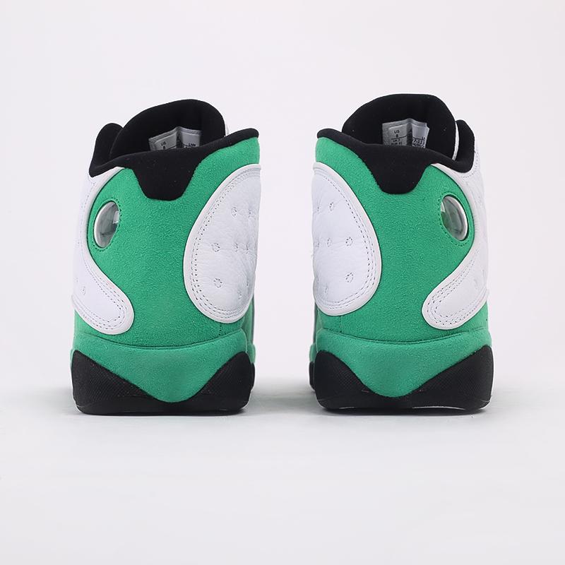 мужские белые, зелёные  кроссовки jordan 13 retro DB6537-113 - цена, описание, фото 6