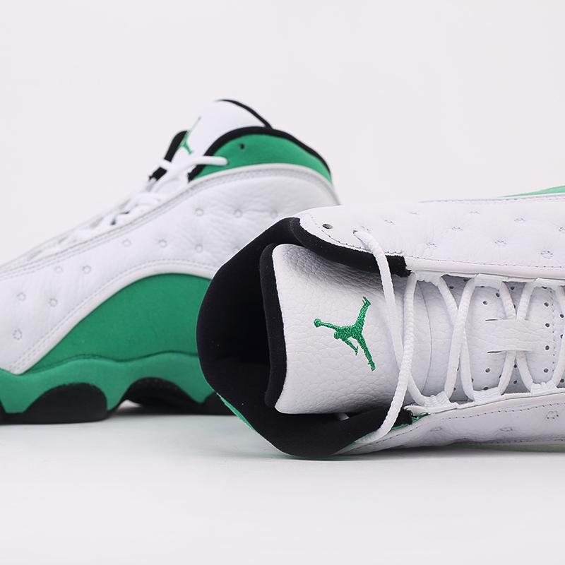 мужские белые, зелёные  кроссовки jordan 13 retro DB6537-113 - цена, описание, фото 4