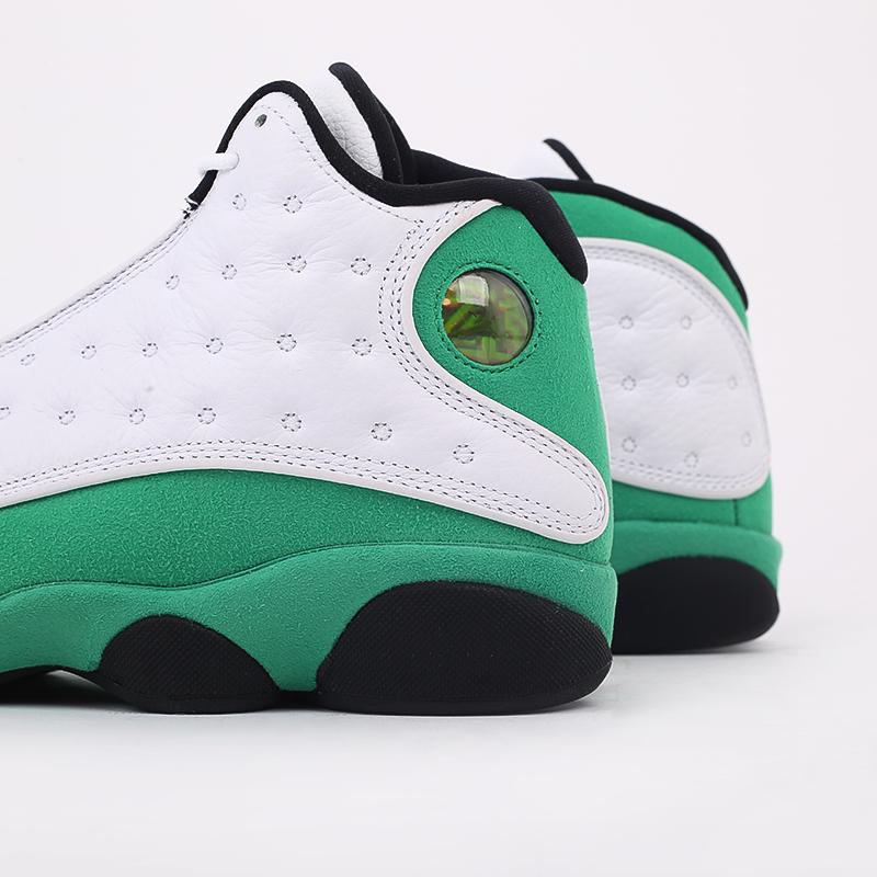 мужские белые, зелёные  кроссовки jordan 13 retro DB6537-113 - цена, описание, фото 5