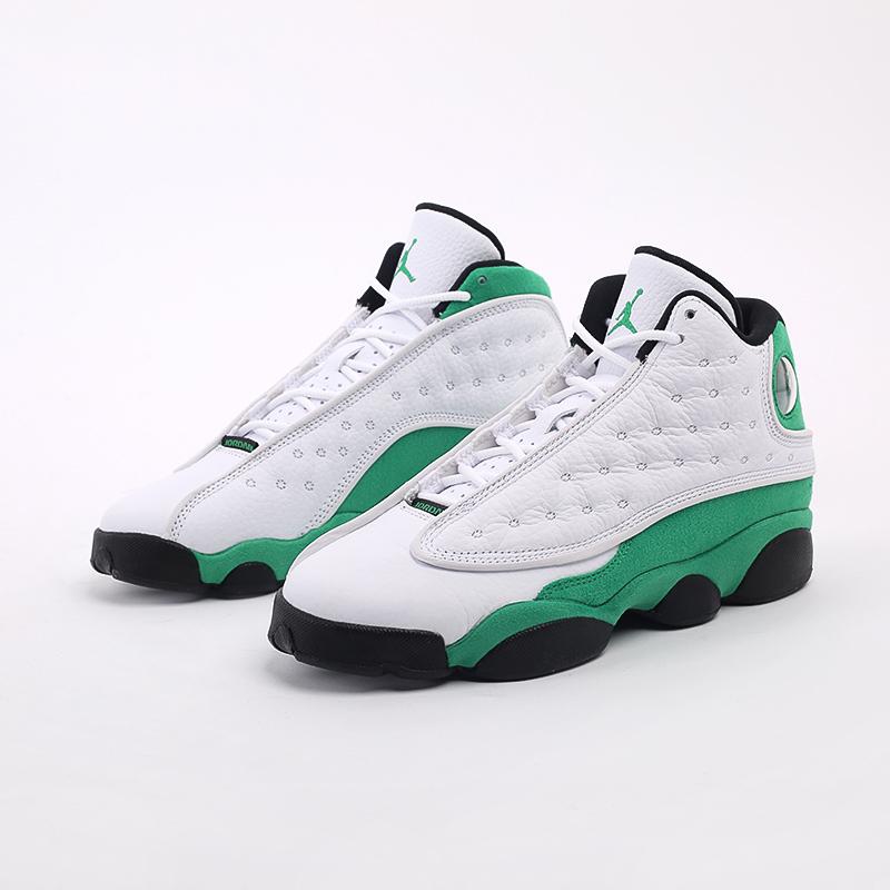 женские белые, зелёные  кроссовки jordan 13 retro (gs) DB6536-113 - цена, описание, фото 7