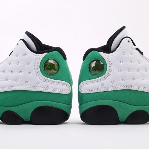 женские белые, зелёные  кроссовки jordan 13 retro (gs) DB6536-113 - цена, описание, фото 6