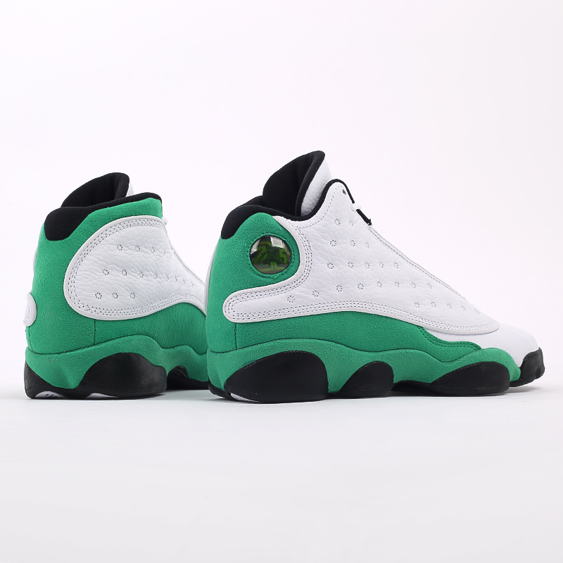 женские белые, зелёные  кроссовки jordan 13 retro (gs) DB6536-113 - цена, описание, фото 4