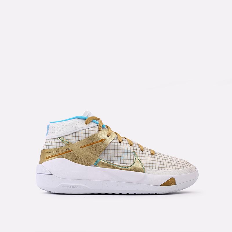 белые, золотые  кроссовки nike kd13 DA0895-102 - цена, описание, фото 1