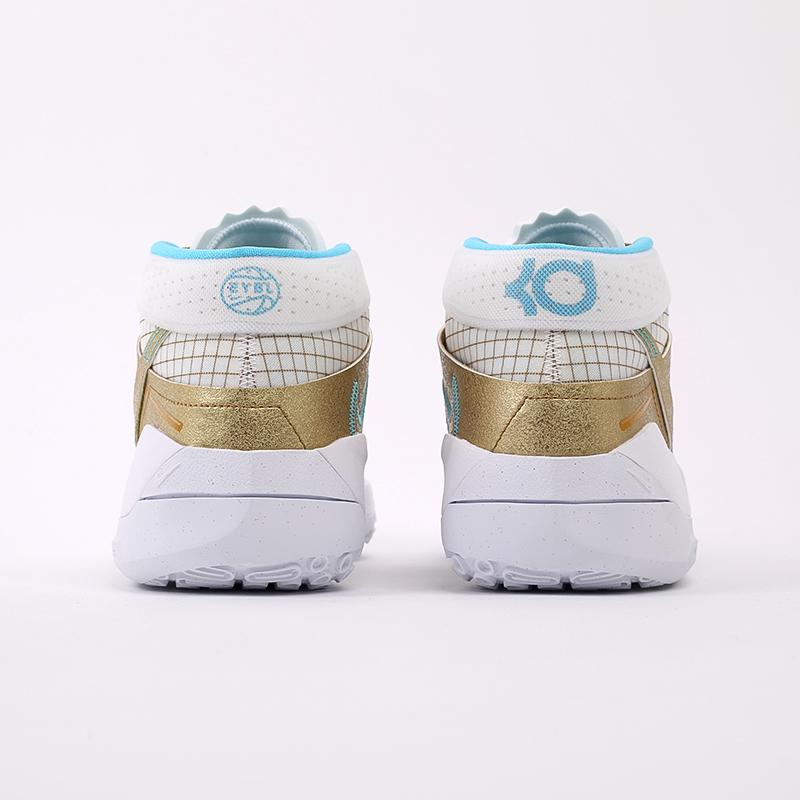 белые, золотые  кроссовки nike kd13 DA0895-102 - цена, описание, фото 3