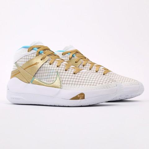 белые, золотые  кроссовки nike kd13 DA0895-102 - цена, описание, фото 2