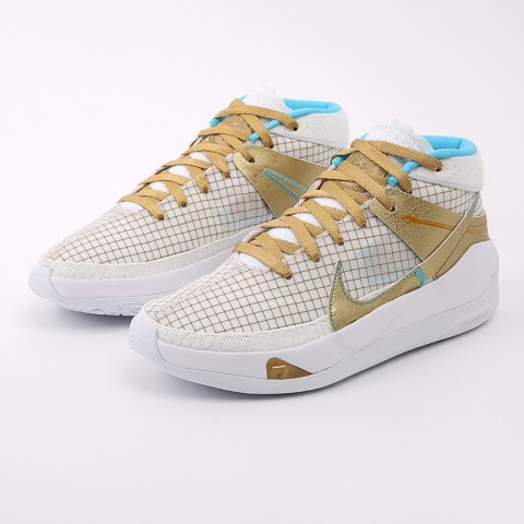 белые, золотые  кроссовки nike kd13 DA0895-102 - цена, описание, фото 5