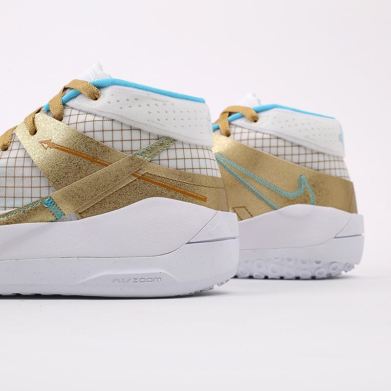 белые, золотые  кроссовки nike kd13 DA0895-102 - цена, описание, фото 7