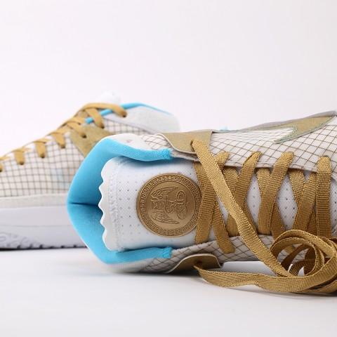 белые, золотые  кроссовки nike kd13 DA0895-102 - цена, описание, фото 8