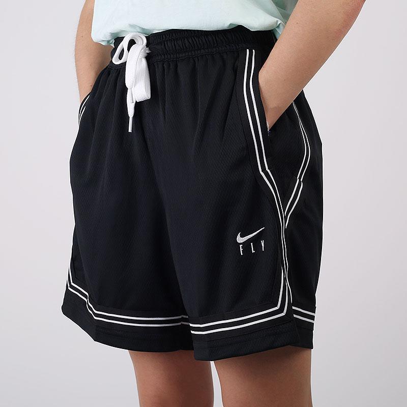 женские черные шорты  Nike Dri-FIT Swoosh Fly Basketball Shorts CK6599-010 - цена, описание, фото 1