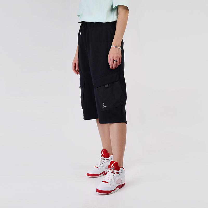 женские черные  шорты  jordan women's shorts CU6347-010 - цена, описание, фото 1
