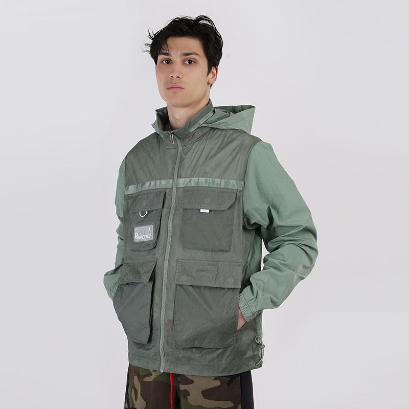 мужскую зеленую  куртку jordan 23 engineered full-zip jacket CK8935-313 - цена, описание, фото 1