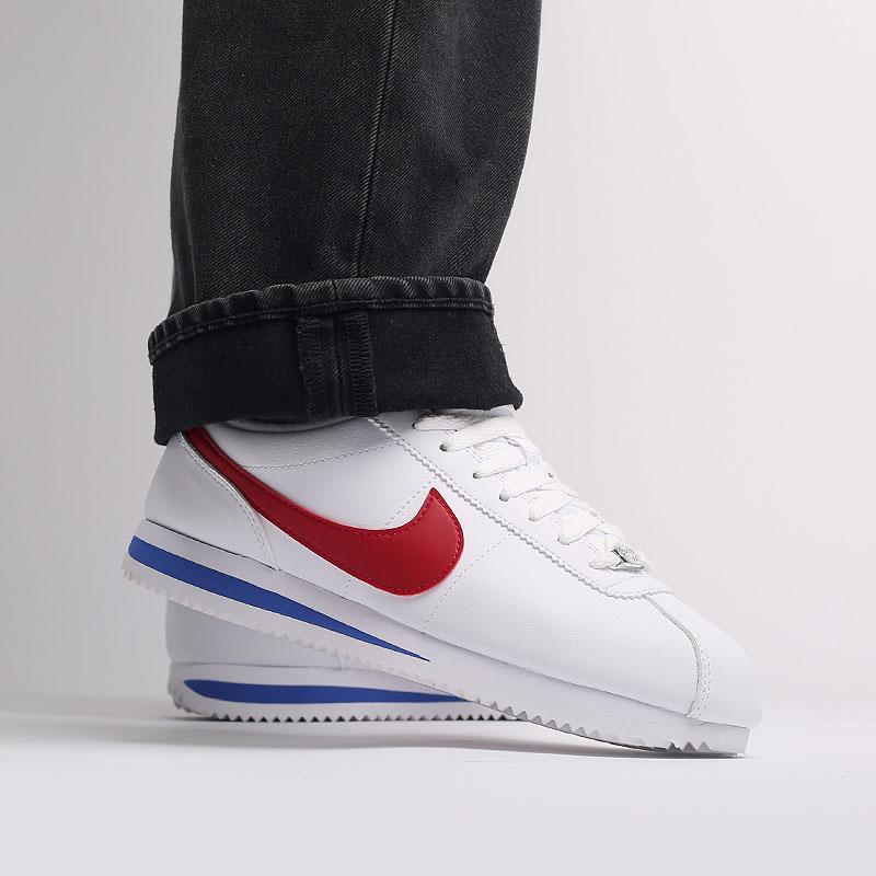 белые  кроссовки nike cortez basic leather 819719-103 - цена, описание, фото 7