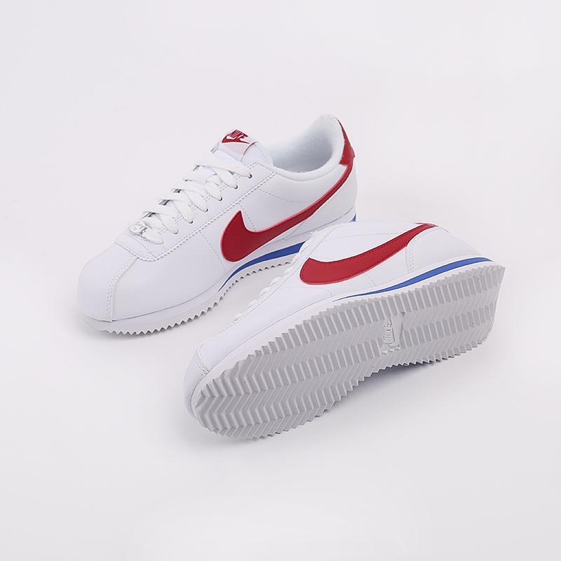 белые  кроссовки nike cortez basic leather 819719-103 - цена, описание, фото 3