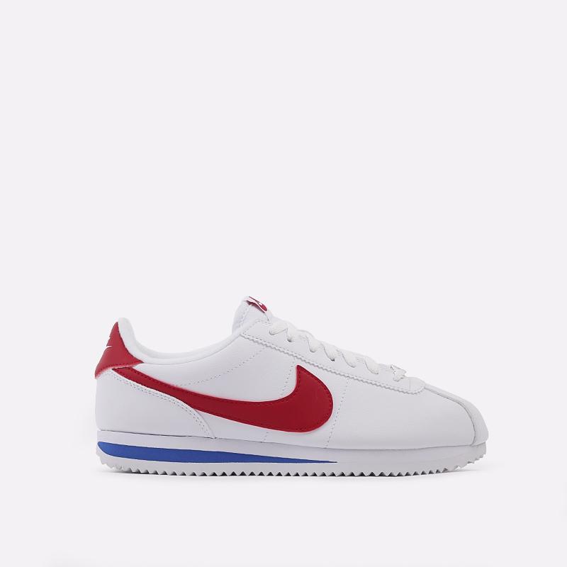белые  кроссовки nike cortez basic leather 819719-103 - цена, описание, фото 1