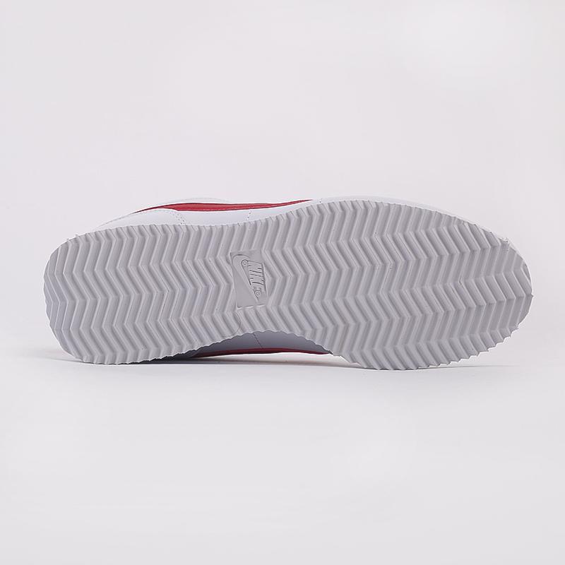 белые  кроссовки nike cortez basic leather 819719-103 - цена, описание, фото 4