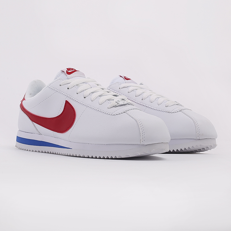 белые  кроссовки nike cortez basic leather 819719-103 - цена, описание, фото 2