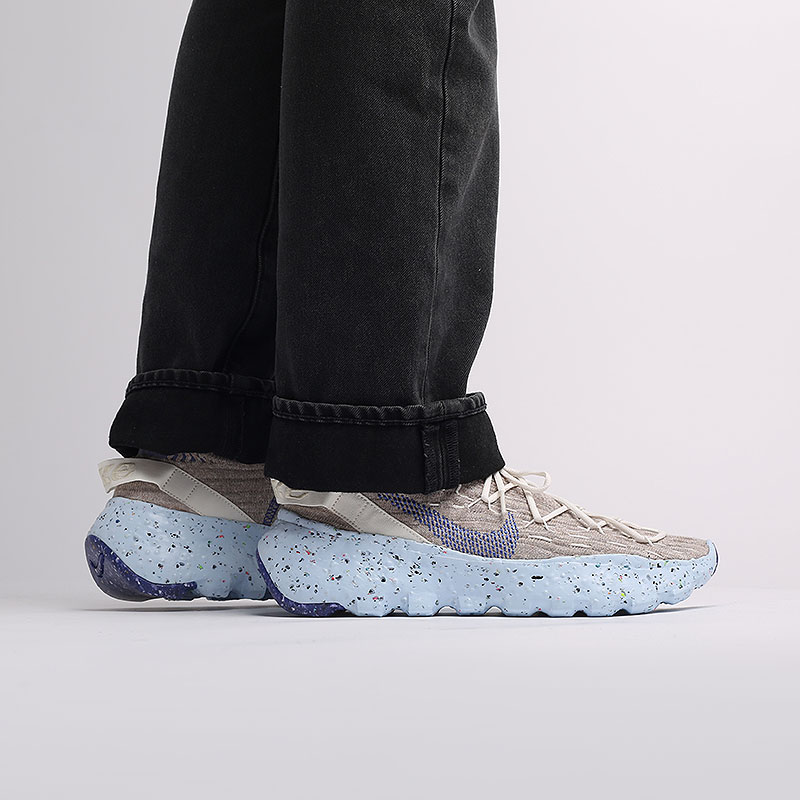 мужские бежевые  кроссовки nike space hippie 04 CZ6398-101 - цена, описание, фото 5